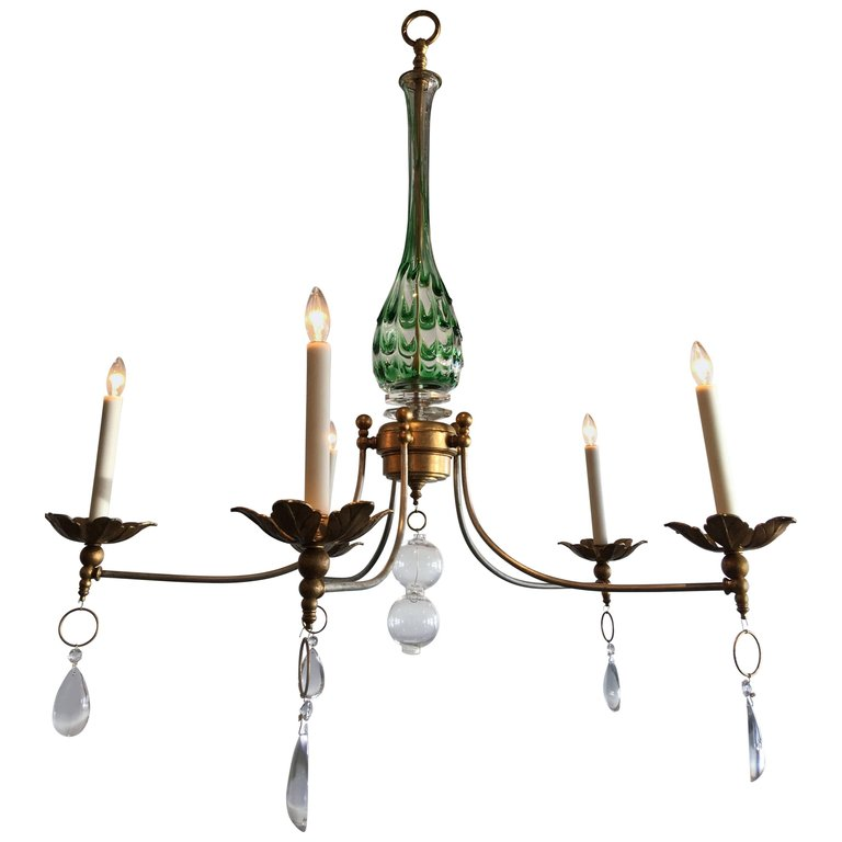 Vintage murano glass chandelier with a contemporary twist vintage murano glass chandelier with a contemporary twist aloadofball Gallery