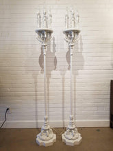 Antique French White Torchiere Lamps Newly Lacquered
