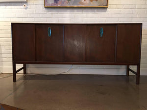 Mid-Century Modern Walnut Credenza by Ray Sabota for Mount Airy