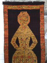 Vintage Figural Woven Wall Hanging Tapestry