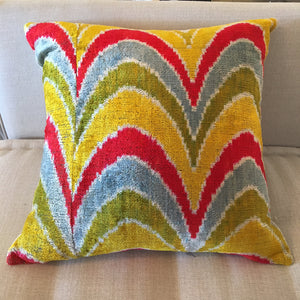 Ikat Pillow 20x20 (Yellow, Red, Gray, Green)