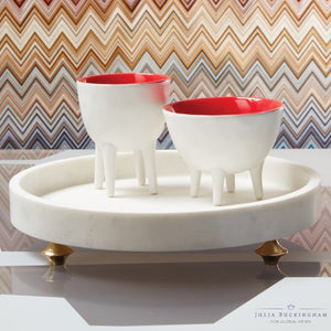 Julia Buckingham for Global Views Quintessential Tray-Circle-White