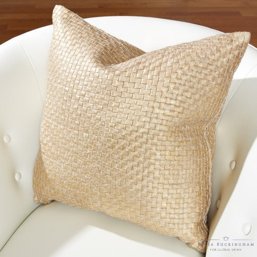 Julia Buckingham for Global Views Gold Digger Pillow