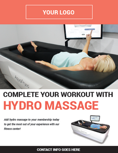 """Complete Your Workout with Hydro Massage"" AquaFrixio Poster - Fitness"