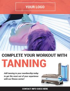 """Complete Your Workout with Tanning"" Poster - Fitness"