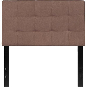 Flash Furniture HG-HB1704-T-C-GG Bedford Tufted Upholstered Twin Size Headboard, Camel Fabric