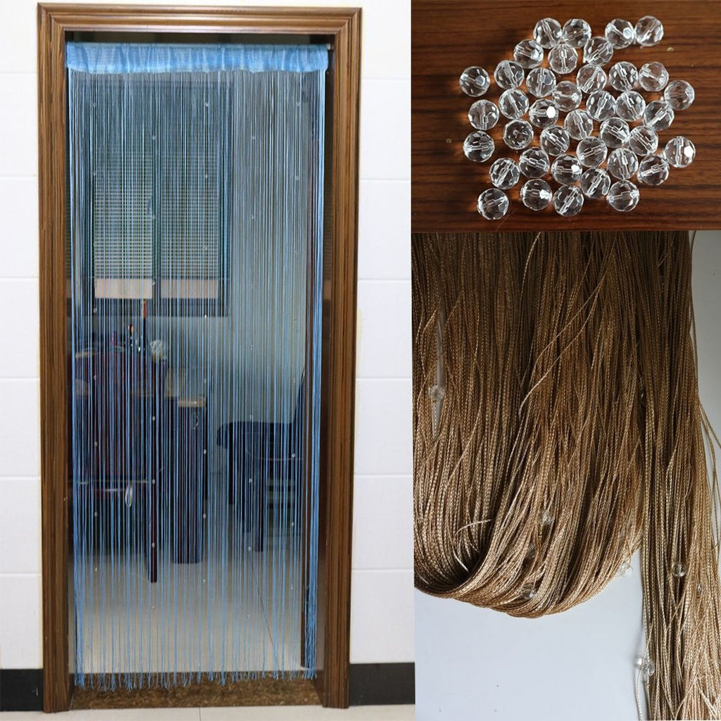 Louver Wall Net Room Decor Panel Crystal Divider Fringe Door Beads Curtain Window String