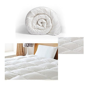 All Seasons Luxury Super Soft White Warm Down Alternative Comforter,King Size
