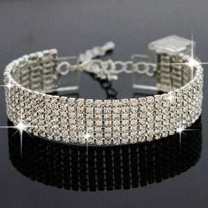 Braccialetto Crystal Rhinestone Bracelet Bangle (Gold,silver)