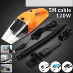 12V 3.5/5 Meter Cable 100W/120W 3/4Way-Use Vehicle Car Vacuum Handheld Super Suction Vacuum Cleaner Dirt Wet  Dry Color: Black R