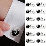 1 Pair Fashion Men's English Letter Shirt Cuff Links Cufflinks Suit Accessories