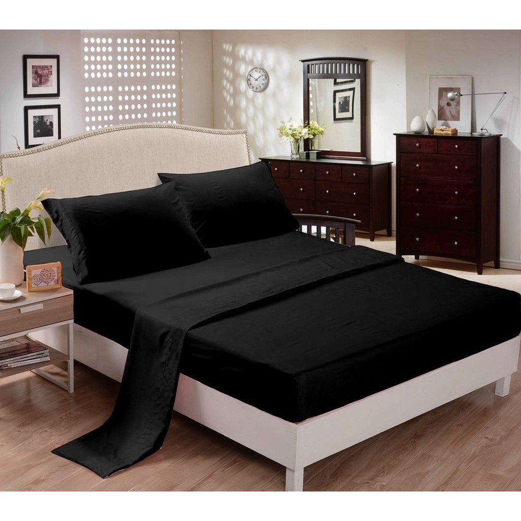CC&DD- Bed Sheets Set ,1500 Series ,3/4-piece,Luxury Super Silky Soft,High Quality 100% Brushed Microfiber,Deep Pocket, Fits Mat