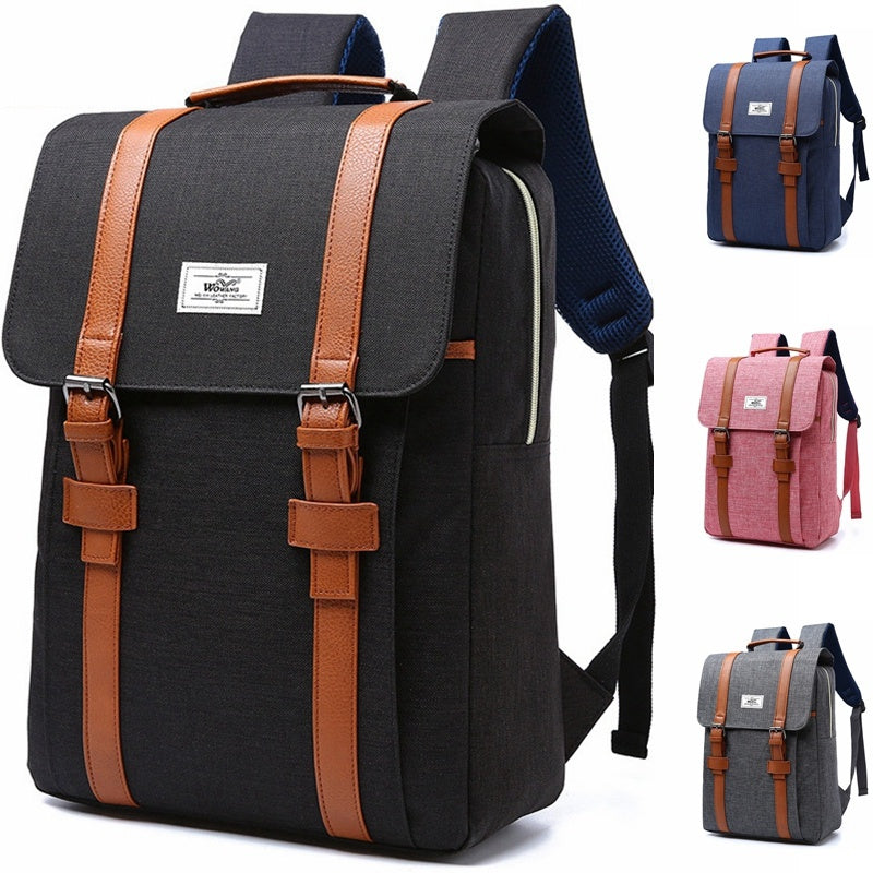Vintage Backpack Fashion Men Women Rucksack