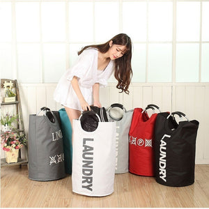 28.35inch High Quality Oxford Cloth Storage Dust Laundry Bag Home Storage Multifunctional Foldable Aluminum Alloy Ring Handles D