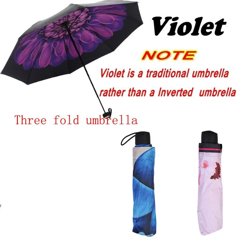 Inverted Umbrella - Double Layer Self-Standing Handsfree Windproof Reverse Folding Umbrella