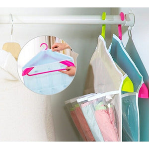 Home Lving Supplies 16 Pockets Organizer Transparent Closet Tidy Storage Bag