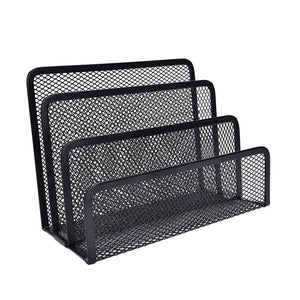 Black Mesh Letter Paper File Storage Rack Holder Tray Organiser Desktop Office The latest listing