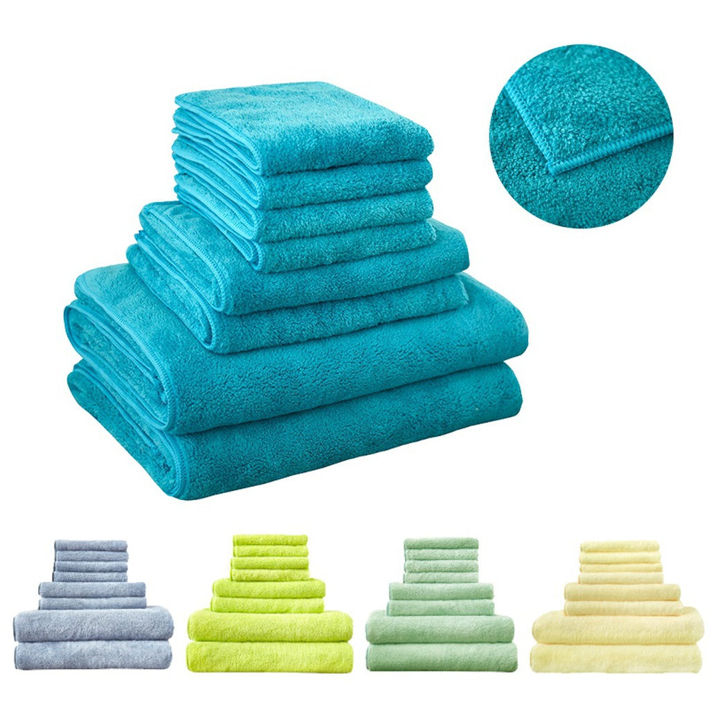 Fast Drying 8Pcs Bath Towel Set, Decorative & Luxury Premium Turkish Cotton Towels for Clearance -  2 Bath Towels, 2 Hand Towels