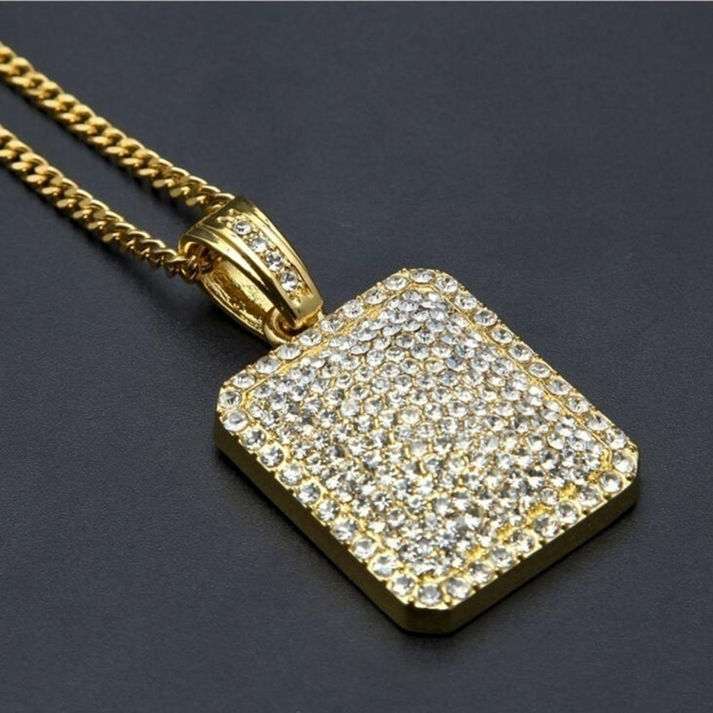 Hip -Hop Necklace Iced Out Bling-bling Pendant