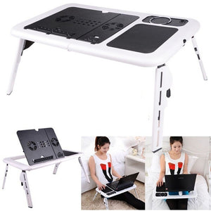 Folding Laptop Table Stand w/ USB Cooling Fans