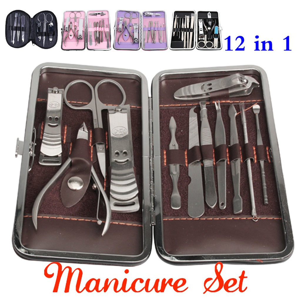 12 In 1 Stainless Pedicure Manicure Set Kit