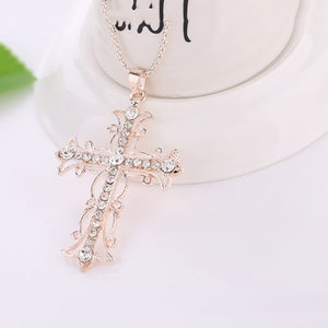 Female Creative Chain Gold Necklace  rose gold   length 72cm