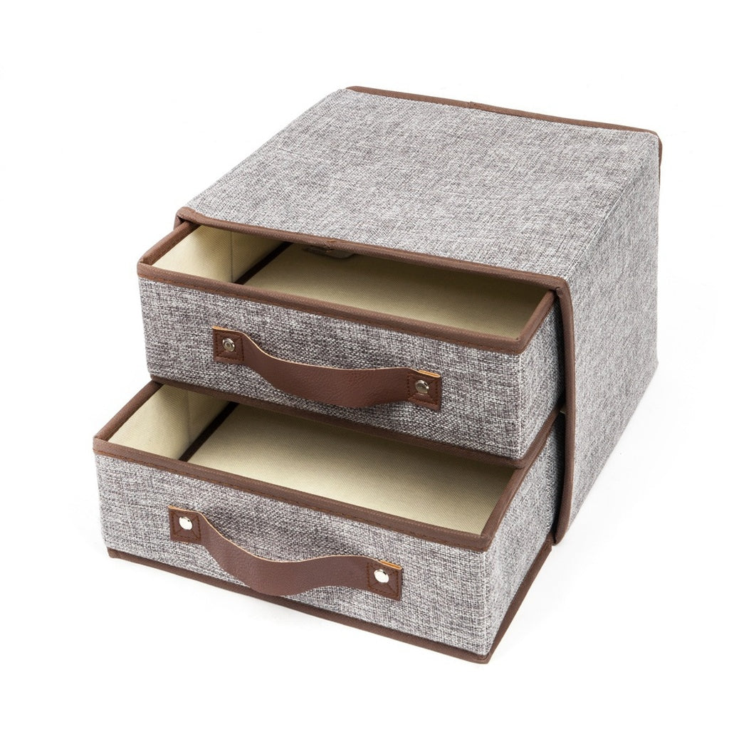 4pcs Foldable Storage Collapsible Folding Box Home Clothes Organizer Fabric Cube