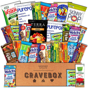 Healthy Snacks Care Package (30 Count) - Variety Assortment with Fruit Snacks, Granola Bars, Popcorn and More, Gift Snack Box for Lunches, Offices or College Students