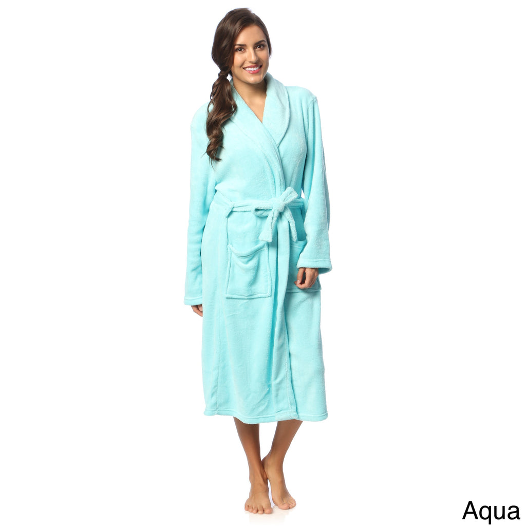Women's Microplush Bath Robe