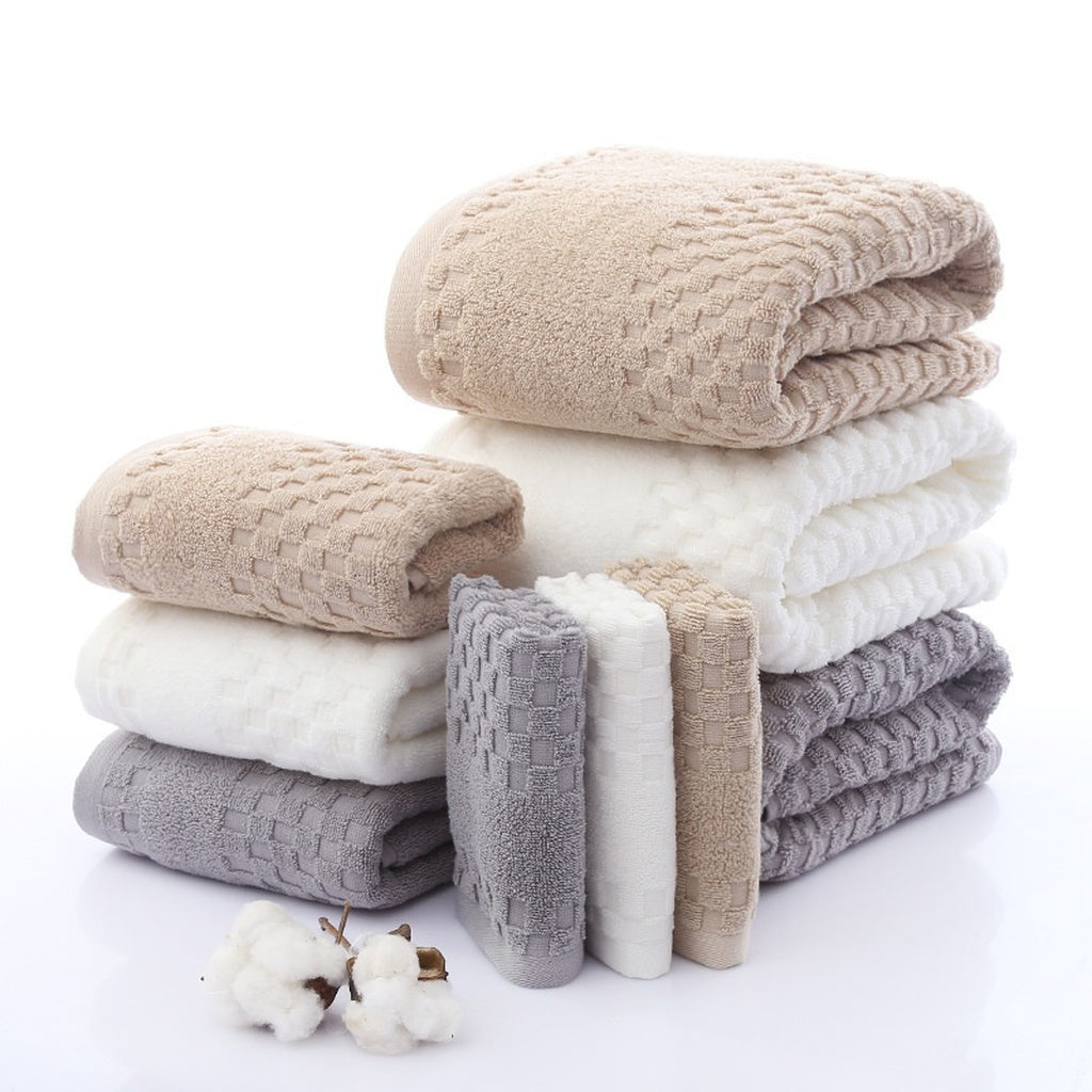 3-piece Blended Egyptian Cotton Bath Towel Set Soft Absorbent 1*Bath Towel+1*Face Towel+1*Hand Towel