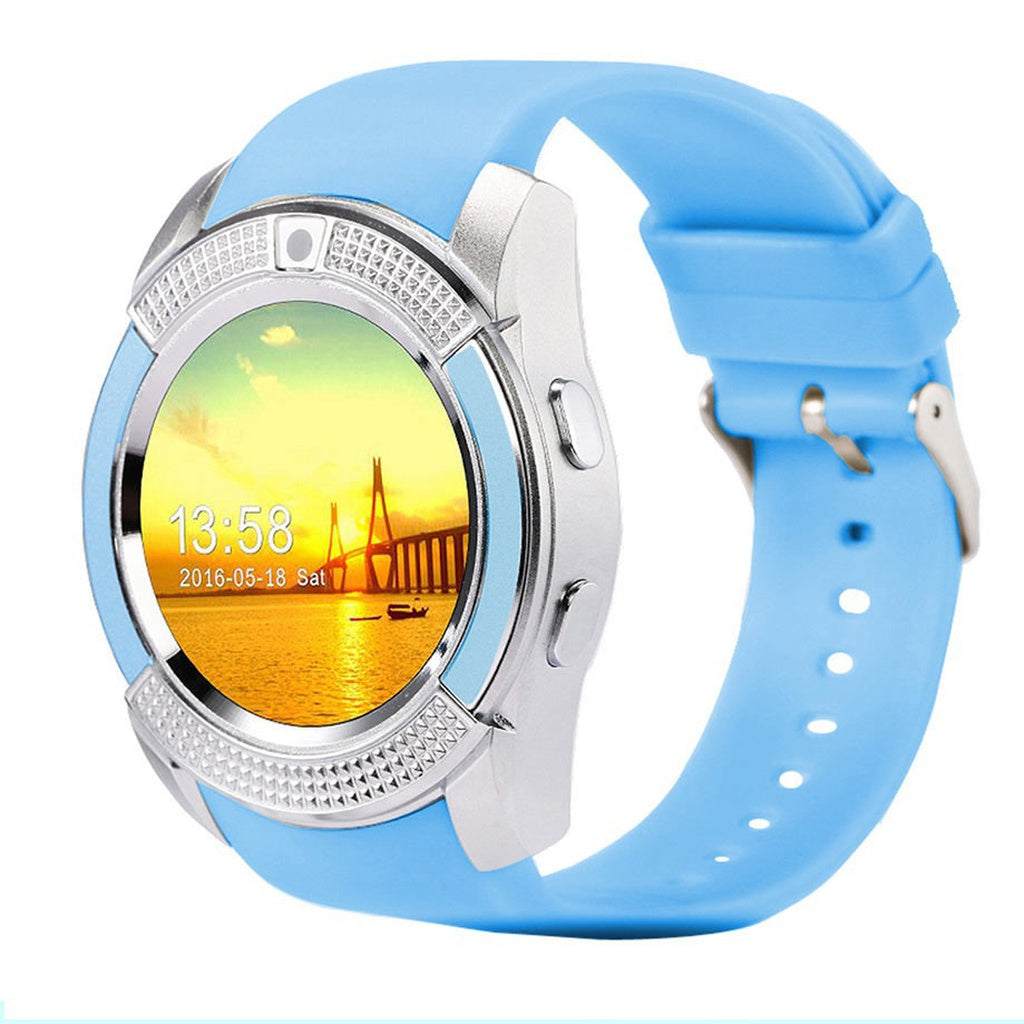 Bluetooth Smartwatch with Camera Touch Screen SIM Card Slot, Waterproof, Phones, Sports Fitness