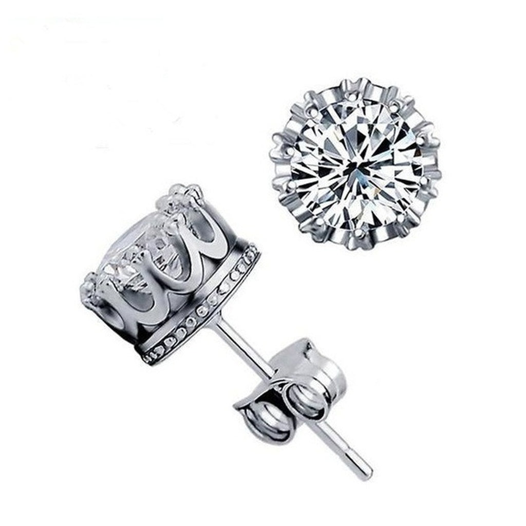 A Pair of 925 sterling silver CZ earrings