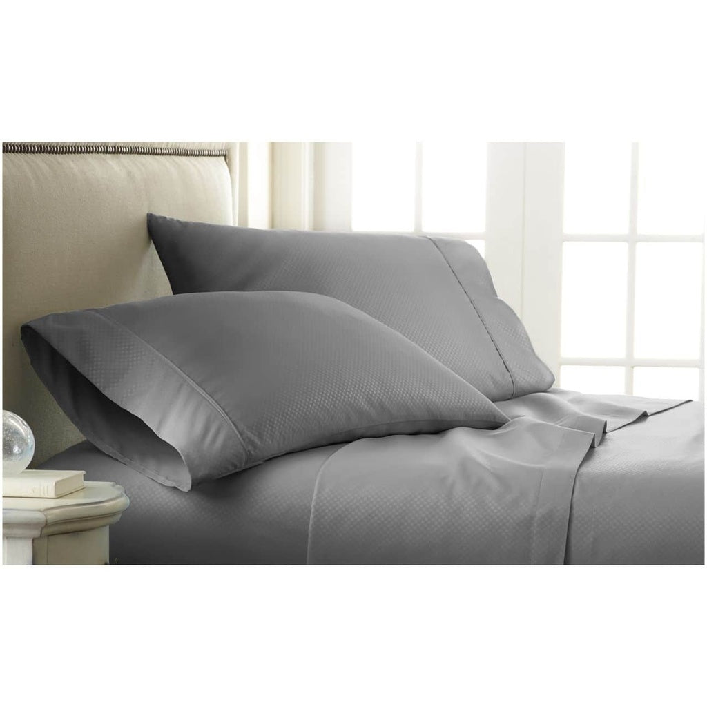Home Collection  Luxurious Ultra Soft 4 Piece Checkered Bed Sheet Set - Beautiful Design - Luxurious - Wrinkle Free - Comfortabl