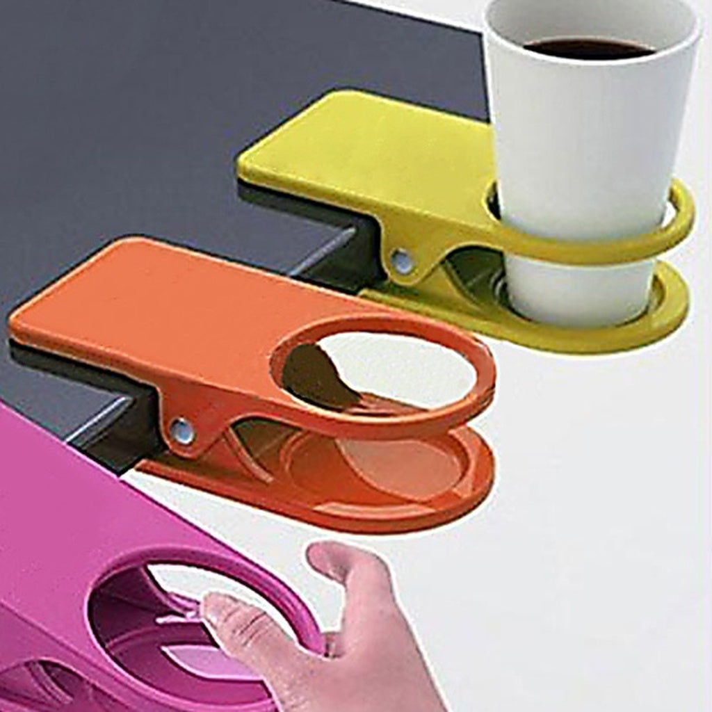 Novelty Accessories Home Office Table Desk Drink Coffee Cup Holder Clip Drinklip (Random Color)