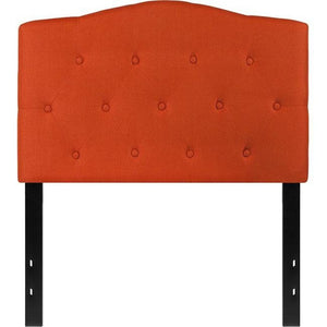 Flash Furniture HG-HB1708-T-O-GG Cambridge Tufted Upholstered Twin Size Headboard, Orange Fabric