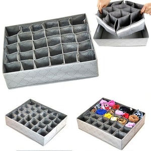 Foldable Bamboo Charcoal Underwear Socks Drawer Organizer