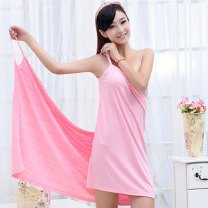 Multicolor Women Girls Bath Towel Wearable Fast Drying Magic Bathing Beach Spa Bathrobes Bath Skirt 2017