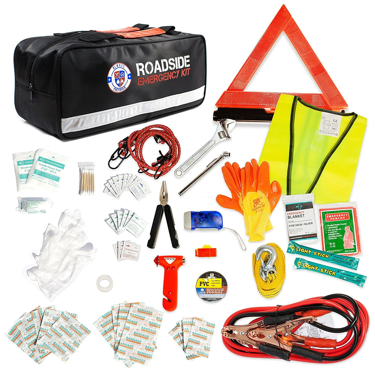 Auto Emergency Kit with Jumper Cables