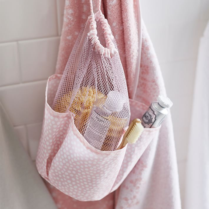 Drawstring Hanging Shower Caddy