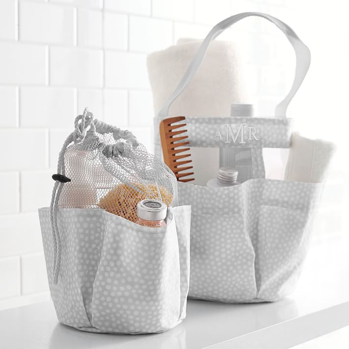 Shower Caddy w/ Drawstring for Hanging