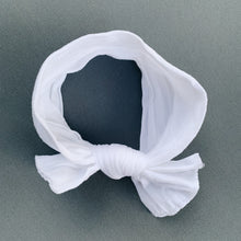 HEADWRAP BABY BOW IN WHITE