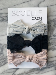 BABY HEADWRAP BOW SET