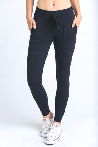 MOTO HYBRID JOGGER LEGGING IN BLACK