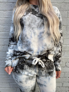 TIE DYE JACQUARD TERRY PULLOVER