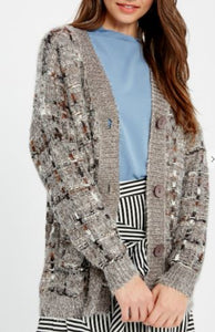 CHENILLE CHUNKY KNIT OPEN CARDIGAN - IN STORE ONLY