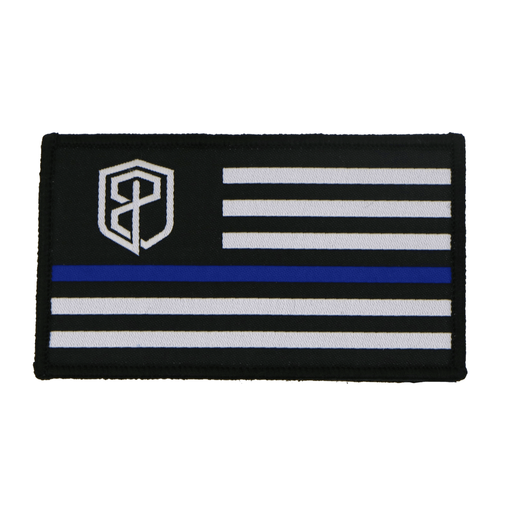 Born Primitive Velcro Flag Patch (Thin Blue Line Edition)