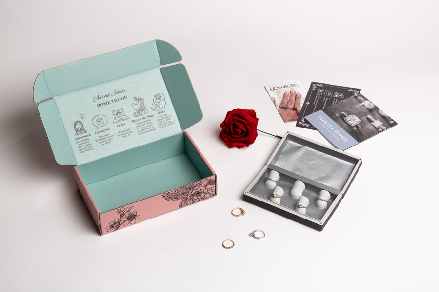 Aurosi Jewels Home Try-On Kit with Sample Rings