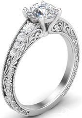 White gold solitaire engagement ring.