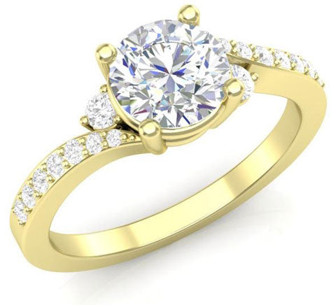 classic twisted engagement ring