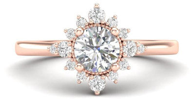 halo affordable engagement ring